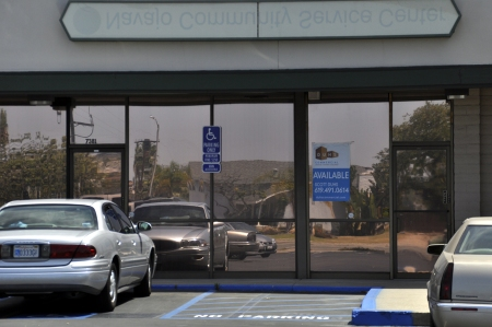 [Image of closed Navajo Community Service office]