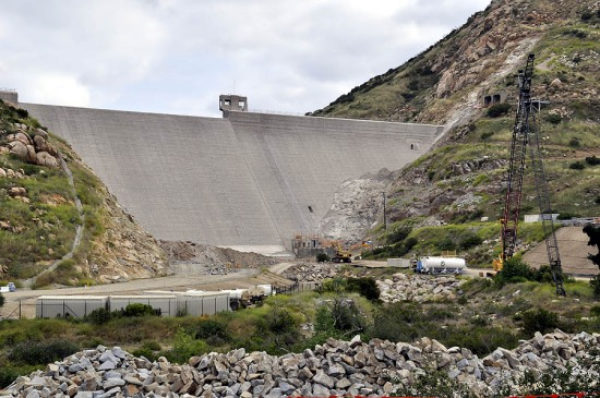 This is a picture of the dam I shot before the dam was raised.