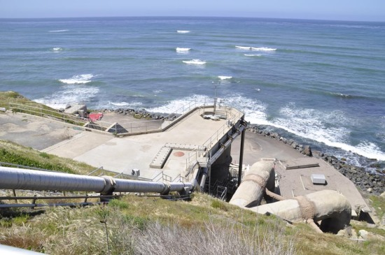Point Loma outfall pipeline where it enters the Pacific.