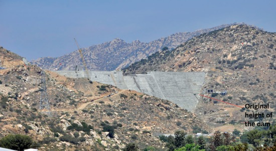 The heightened San Vicente Dam increases the reservoir capacity from 90,000 acre-feet to 242,000 acre-feet.