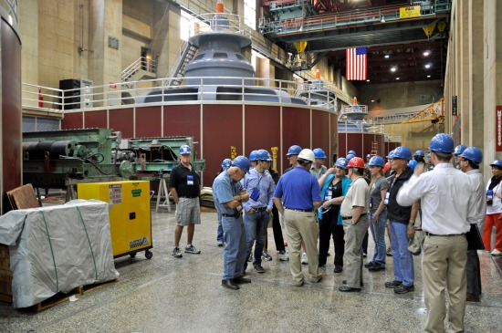 Generators in the powerplant. There are nine on the Arizona wing, eight on the Nevada side.