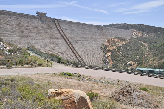 Olivenhain Dam creates a reservoir with 24,000 acre-feet capacity.