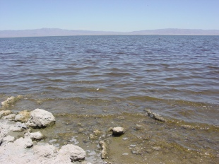 The Salton Sea is slowly evaporating.
