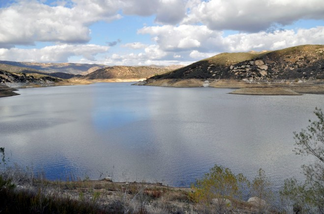 Barrett Reservoir, located about 35 miles east of San Diego at the confluence of Cottonwood and Pine Valley creeks.
