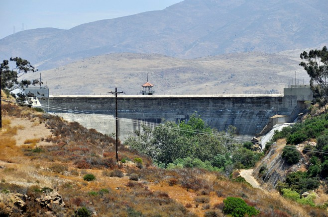 Sweetwater Dam holds back runoff from the Sweetwater River watershed which begins near the Green Valley Falls area in Cuyamaca Rancho State Park.