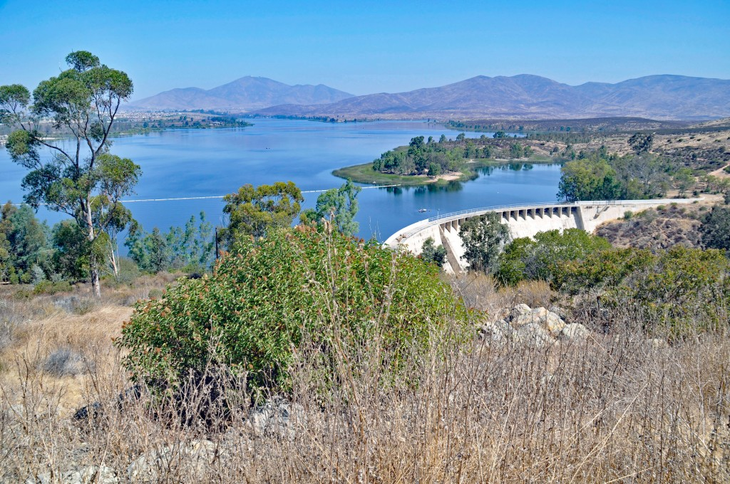 Lower Otay Reservoir and dam.